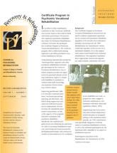 Certificate in Psychiatric Vocational Rehabilitation newsletter
