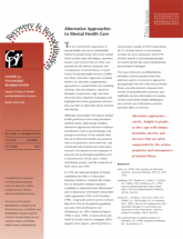 Alternative Approaches to Mental Health Care newsletter