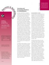 Assessing & Developing Readiness for Rehabilitation newsletter
