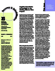 Cognitive Remediation newsletter