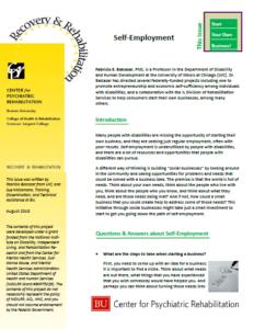Self-Employment newsletter