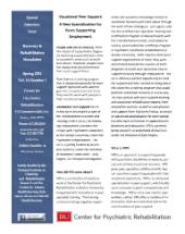 Vocational Peer Support newsletter