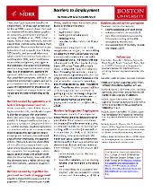 Barriers to Employment fact sheet