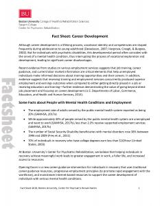 Career Development fact sheet