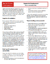 Supported Employment fact sheet