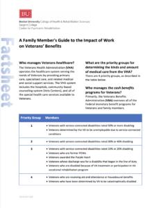 A Family Member's Guide fact sheet