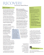 Recovery from Severe Mental Illnesses fact sheet